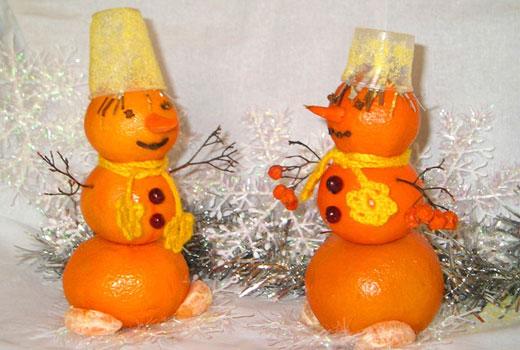 мандариновые снеговички