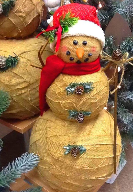Снеговик из мешковины