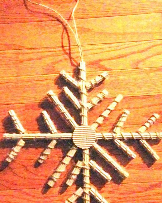 снежинка петелька
