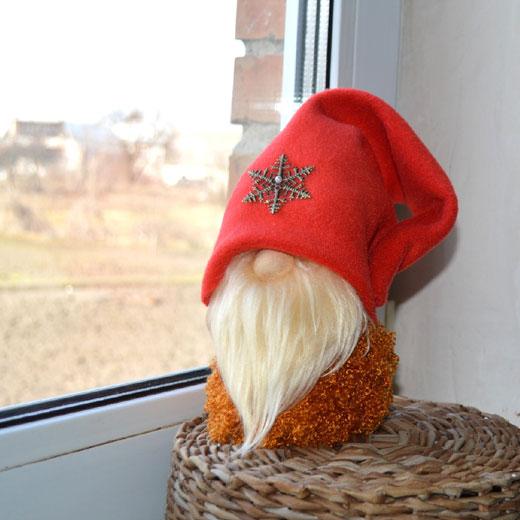 снежинка на колпачке гнома