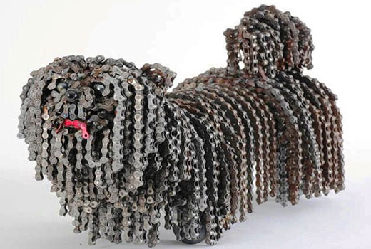 собачка из цепей