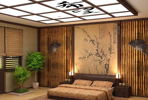 Спальня японская