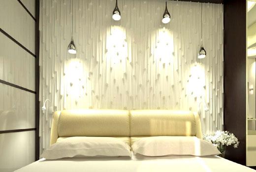 3д панель в спальне