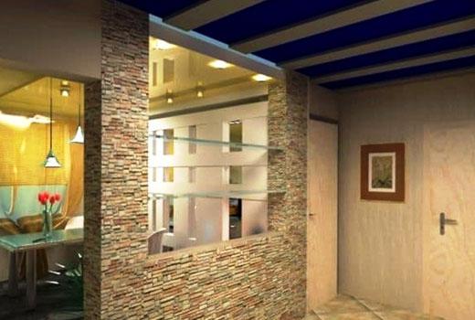 стена камень коридор