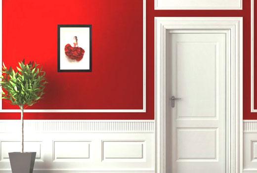 стены красные