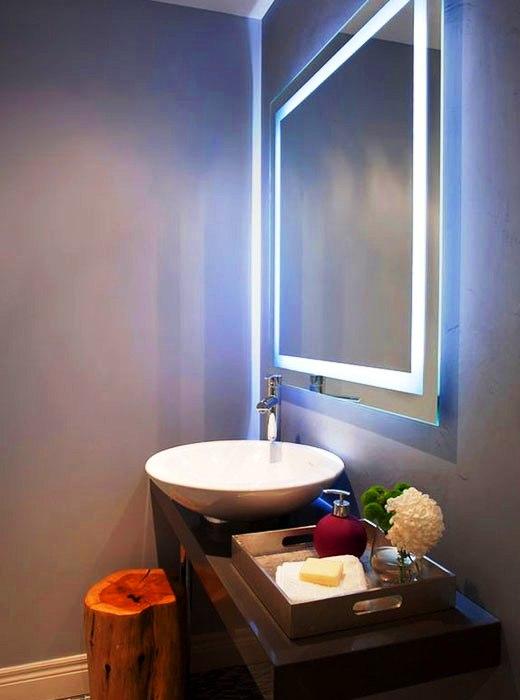 оптимальное освещение ванной