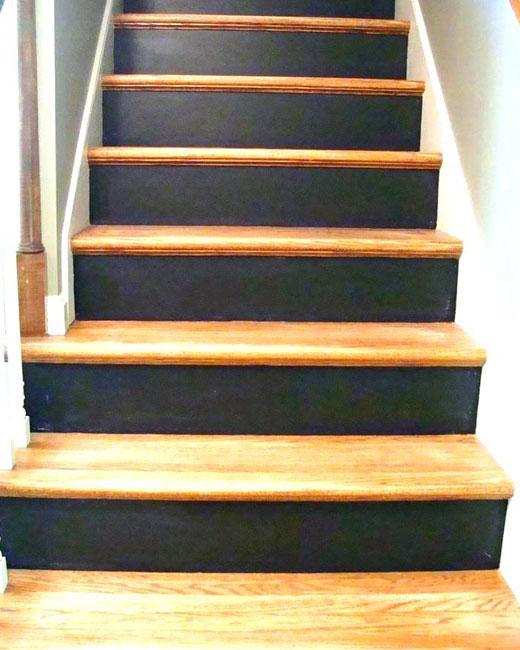 темные подступенки покраска лестницы