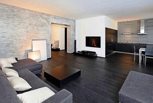 ламинатный пол в гостиной