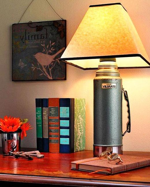 лампа из термоса