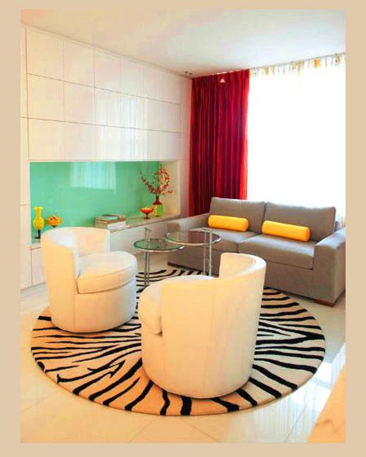 коврик шкура тигра в гостиную