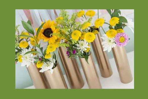 вазочки из труб