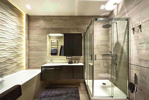 3д панели в ванной
