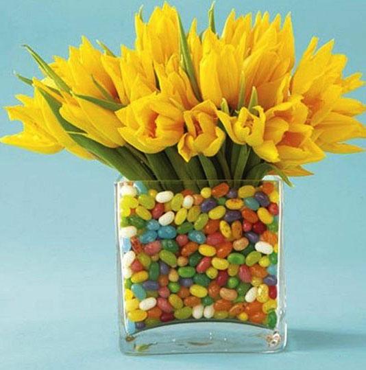 цветы в конфетах