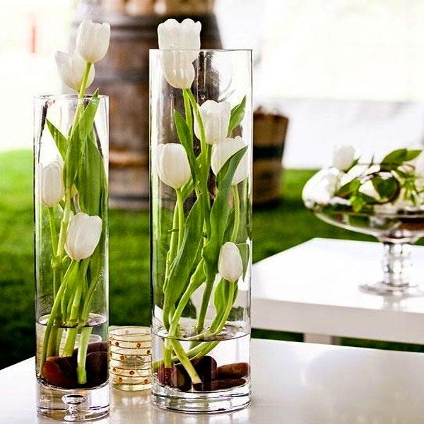 вазочки из высоких стаканов