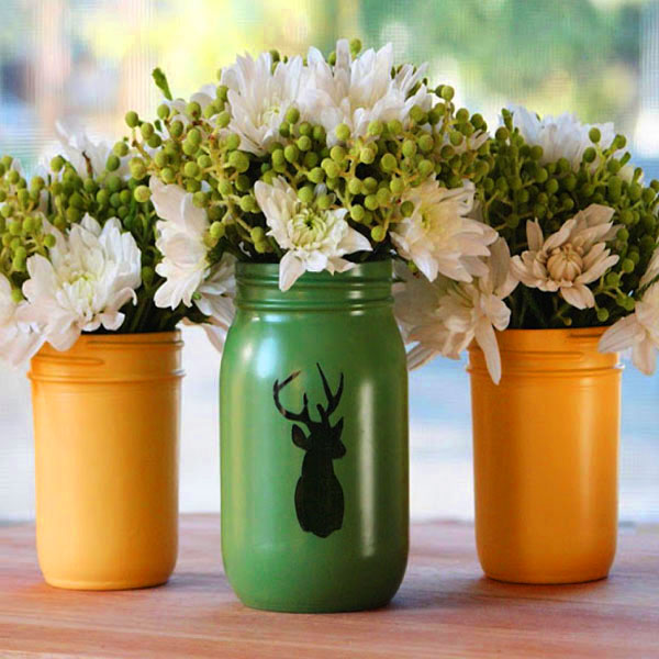 вазы из баночек