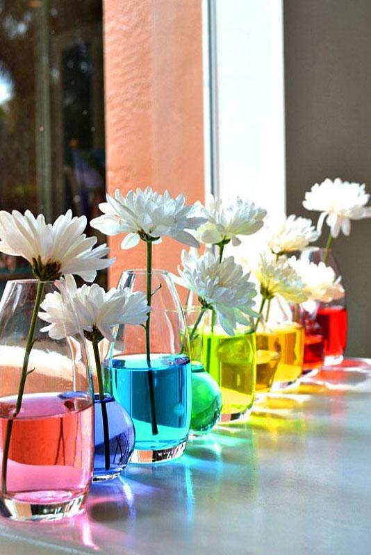 цветная вода для букетов