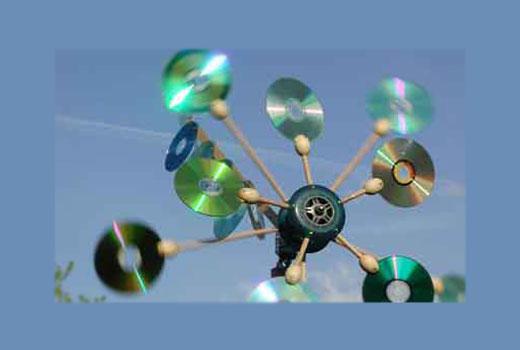вертушка из дисков