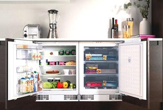 встроенный маленький холодильник