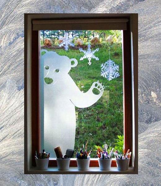 стикер медведь