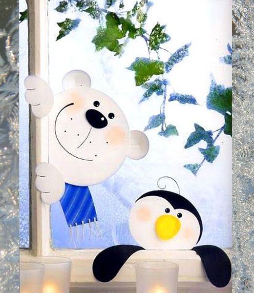 стикер медведь и пи нгвин