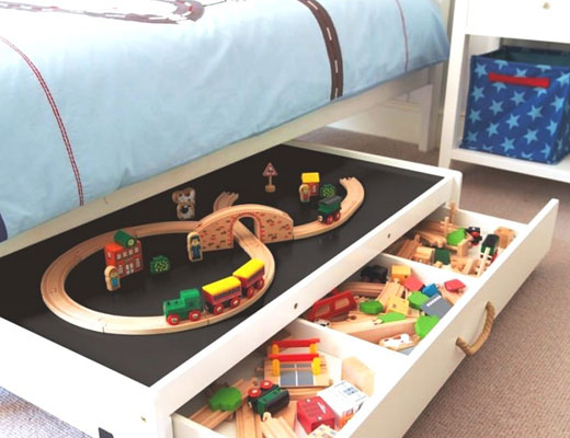 Кровать детская с ящиками выдвижными