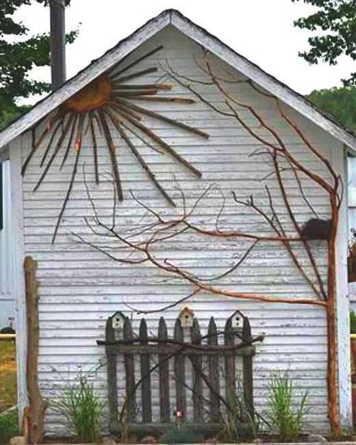 Украшение дачной постройки