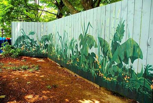 Разрисовать забор