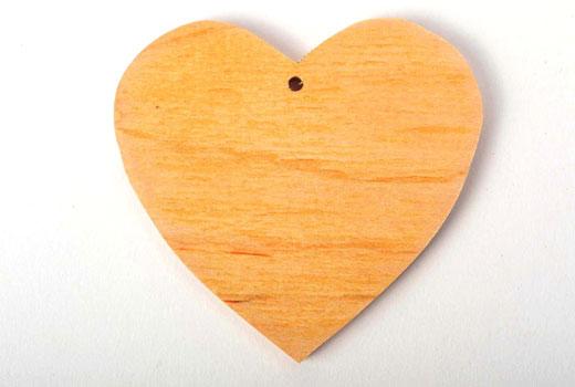 заготовка сердца деревянная