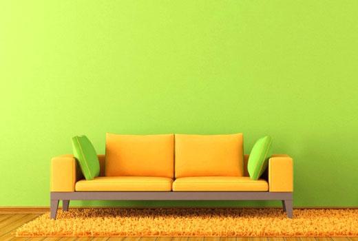 зеленый интерьер