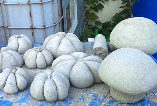 сохнут цементные поделки для сада