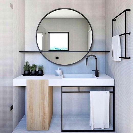 зеркало круглое интерьер