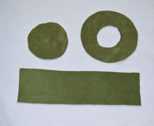 Детали для цилиндра из флиса