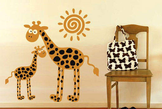 наклейка жирафы