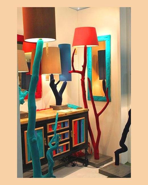 лампы торшеры дерево