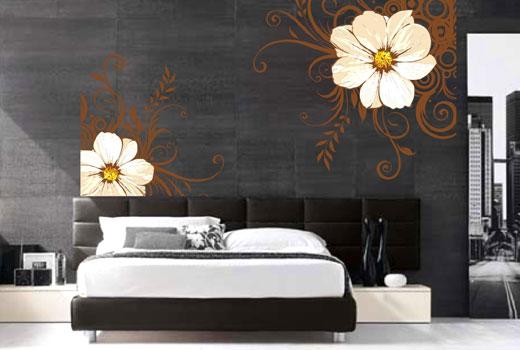 роспись изголовья кровати